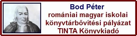 Bod P�ter rom�niai magyar iskolai k�nyvt�rb�v�t�si p�ly�zat