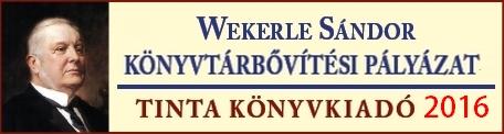 Wekerle S�ndor k�nyvt�ri �llom�nygyarap�t�si p�ly�zat 2016.
