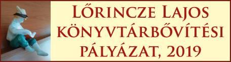 Lőrincze Lajos könyvtárbővítési pályázat, 2019